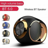 5.0 Speaker, HD Surround Sound & Best Bass Loud Stereo Wireless Bluetooth Speakers with Microphone, 8H Playtime, USB/AUX/TF Slot, IPX5 Waterproof for Phone PC