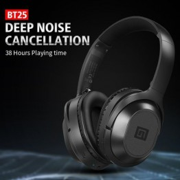 BT25 Active Noise Cancelling Over-ear Wireless Bluetooth 4.2 Stereo Headphones Sport Deep Bass Hi-Fi Music Headset with Mic