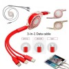 In 1 Retractable Micro USB Lightning Type C Multi Charger Cable for For IPhone Android Mobile Phone Cables Charging Cabel Cord
