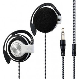 3.5mm Plug Wired HIFI Stereo Metal Wired Headphones Heavy Bass Headset Over-ear Adjustable Ear hook earphone for phone