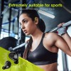 Earbuds, Wireless Sports Headphones Waterproof IPX7 Bluetooth 5.0 36H Enhanced Playtime Auto On/Off/Pairing Bluetooth Earphones Over Ear Hi-Fi Stereo for Gym Fitness