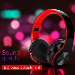Bluetooth 5.0 Headphones Foldable Stereo Headset Over-ear Heavy Bass Headphones with Mic for Phone Tablet
