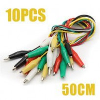 Electric Jumper cables with Double Ended Alligator Crocodile Clips 500mm